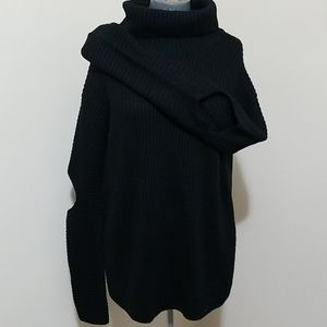 Black Sweater w/Cutout Elbow Detail S